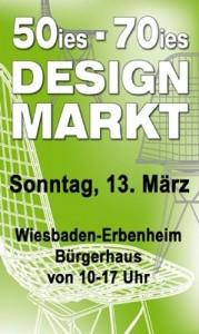 Flyer 50er 70er Designmarkt