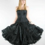 Petticoat mit Satinbändern, Länge ca. 70 cm